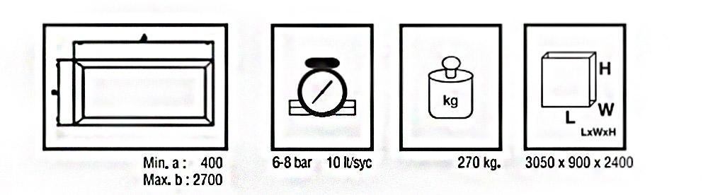 CG-301 Banc calare sticla - date tehnice