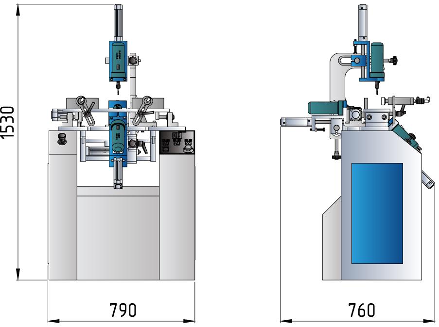 OMRM-116-Masina-pentru-gauri-drenaj-cu-3-motoare-dimensiuni