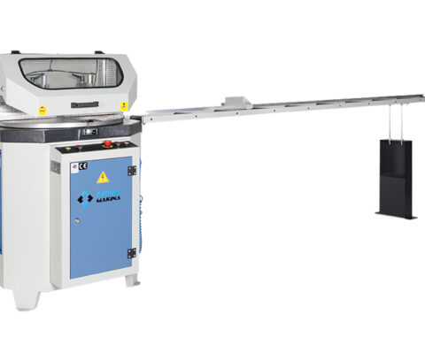 OMRM-125 Masina automata de debitat profile PVC si aluminiu - foto 01 - export